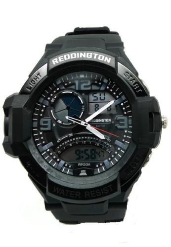 Reddington Jam Tangan Pria Hitam Putih Rubber Strap R1017
