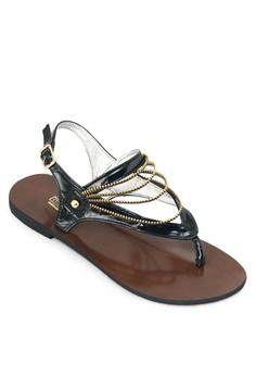 Black flats sandals
