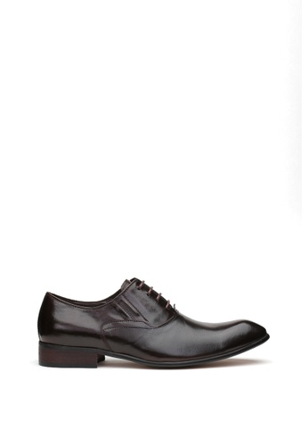 Kings Collection black Melton Derbies Shoes 100ABSHF7CB8F6GS_1