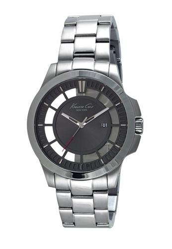 Kenneth Cole black Kenneth Cole Men's Watch - Automatic Skeleton Black Leather Strap KE854AC43JJKSG_1