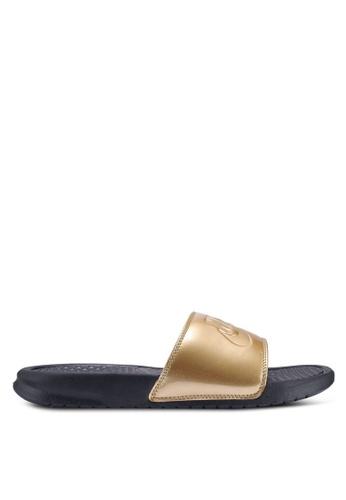 "Nike black Nike Benassi ""Just Do It."" Sandals 4B3D5SH74AB393GS_1"