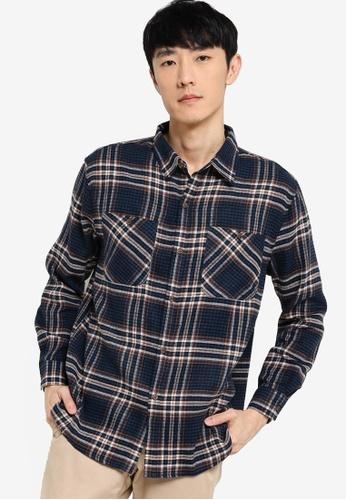 ZALORA BASICS multi Oversized Fit Flannel Shirt 029A1AA7CE55B1GS_1