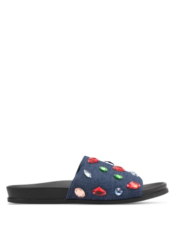 Something Borrowed blue and navy Embellished Sandals B3997SH55F3ACFGS_1