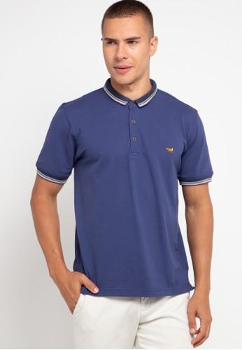 Andrew Smith blue Kaos Polo 005A7AA95CFC68GS_1