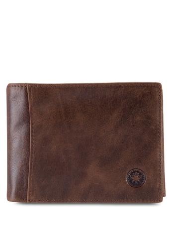 Lumberjacks brown Lumberjacks Genuine Leather Wallet LU545AC84PCDMY_1