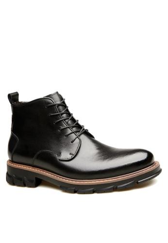 Twenty Eight Shoes 黑色 經典皮革商務靴 VMB76200 6E4D4SHB40DCD5GS_1