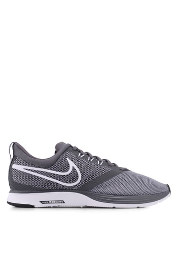 Nike grey Nike Zoom Strike Running Shoes 0EABDSHE03B333GS_1