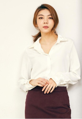 天esprit台灣網頁鵝絨翻領襯衣, 服飾, 上衣