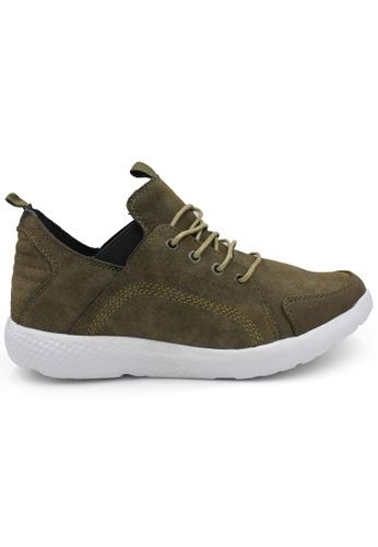 midzone green SCORPION Leather Sneaker 1F304SH17514CCGS_1