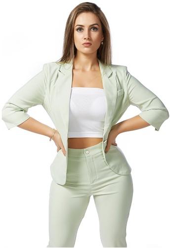 London Rag green Pastel Green Suit-It up Jacket 0279EAAB9829ABGS_1