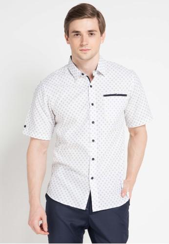 Contempo white Men Shirt S/S Casual CO339AA0VUNDID_1