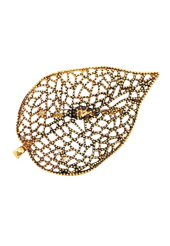 Paulini silver and gold Brooch Liz Maria (AG) PA011AC72XUTMY_1
