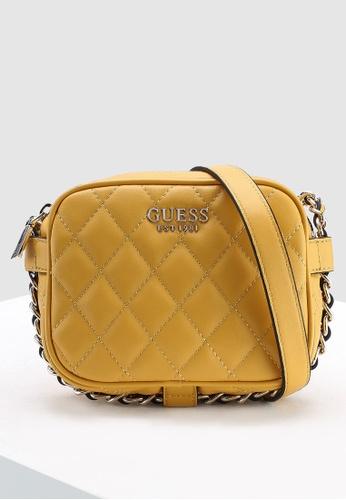 Guess yellow Sweet Candy Mini Crossbody Zip Top Bag 6E963AC5D96E85GS 1 0f305a6b3cf7b