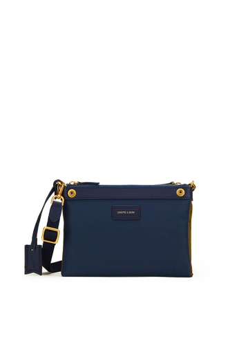 Gnome and Bow brown and blue and beige Milton Mini Crossbody Clutch (Reversible) 17DE6AC82BFA48GS_1