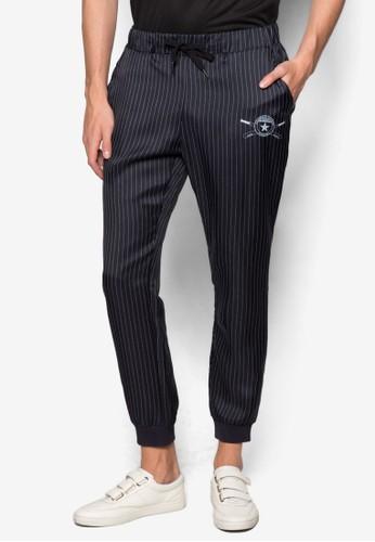 棒球風運zalora時尚購物網的koumi koumi動長褲, 服飾, 長褲