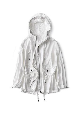 Twenty Eight Shoes white VANSA Mid-Length Style Wind Jacket VCW-T50 60B47AADD667F4GS_1