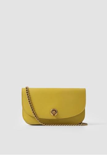 Rabeanco yellow RABEANCO Chain Clutch - Smooth Mustard 557BBAC4BA5860GS_1
