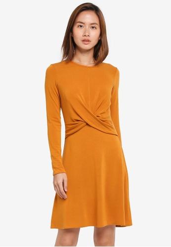 ba461eddfe Dorothy Perkins orange Ochre Twist Front Dress 41450AA85C7FBEGS 1
