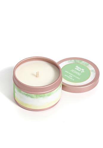 Happy Island green Jasmine Soy Candle 2oz 516A7HLAB61B40GS_1
