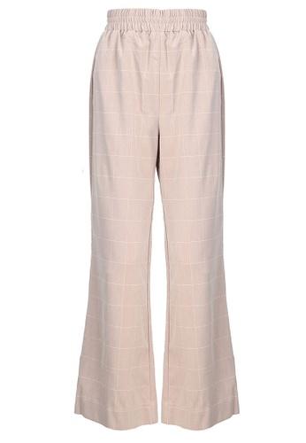 POPLOOK pink Campbell Wide Legged Pants EC76EAA3FC70C5GS_1