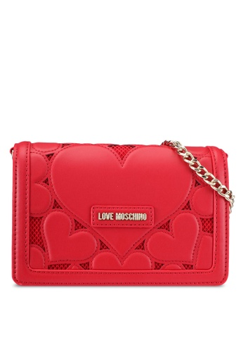 Love Moschino red Borsa Lamb Shoulder Bag LO478AC0SEIXMY_1