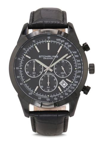 Stuhrling Original black Monaco 3975L Watch 3DD95AC840F153GS_1