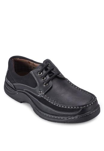 三zalora 衣服尺寸眼繫帶仿皮休閒鞋, 鞋, 鞋