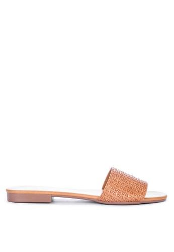 CLN brown Tromso Slide Sandals A90AFSH3C70471GS_1