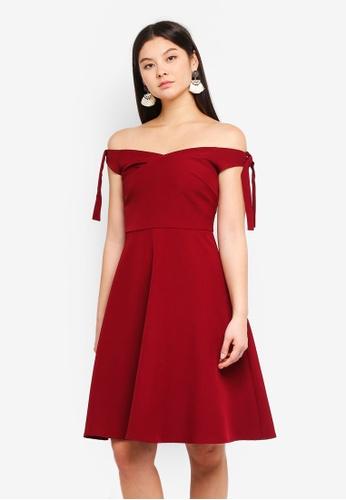 5ebdaa00865b Dressing Paula red Off Shoulder Woven Midi Dress E81E0AAF0ABCF1GS 1