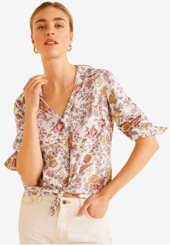 Mango beige Pocket Flowy Shirt FFA97AA0838960GS_1
