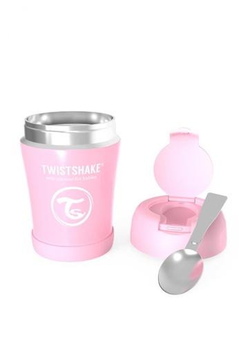 Twistshake Twistshake Insulated Food Container 350ml Pastel Pink CFA00ES99D43A8GS_1