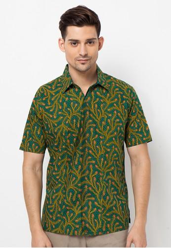 ASANA green Peacock Short Sleeves Slim Fit 8C832AA98BE868GS_1