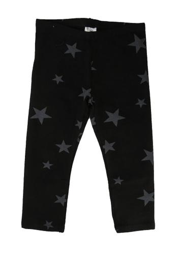 FOX Kids & Baby black Kids Girls Printed Jersey Leggings A17FEKADF82383GS_1