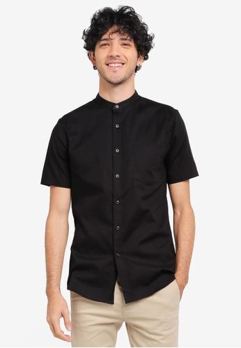 Topman black Short Sleeve Black Muscle Shirt TO413AA0SR9IMY_1