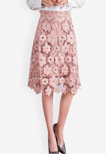 Shop Sunnydaysweety Temperament High Waist Hollow Lace Skirt Online on  ZALORA Philippines cc17c5947e8