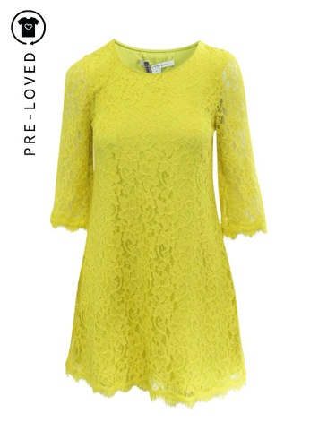 Diane Von Furstenberg yellow Pre-Loved diane von furstenberg Yellow Lace Dress 64841AA9227323GS_1