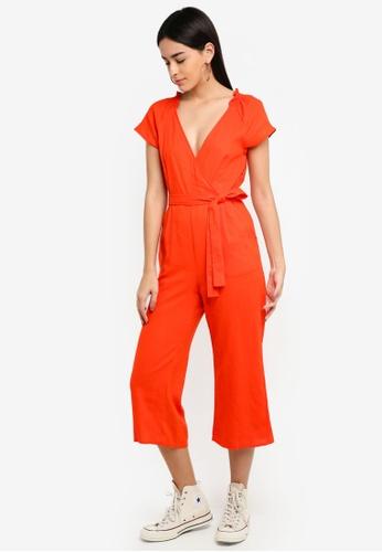 Supre orange Wrap Jumpsuit 4F7FBAA0E5B668GS_1