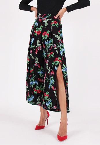 MAGNOLIA black Floral Culottes B09F9AA7020325GS_1