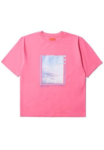 tout à coup pink Graphic box tee 93A8BAA60C2B2CGS_1