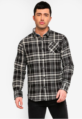 Brave Soul black and multi Brushed Check Shirt F73B1AAE30A6C1GS_1