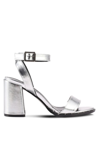 Something Borrowed silver Ankle Strapped Heels 4CD20SHFE315E2GS_1