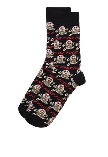 Topman black Black Fast Food Socks TO413AA0S5LQMY_1