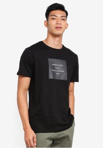 Cotton On 黑色 休閒印花T恤 403A5AADE5BD61GS_1