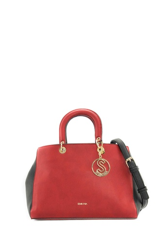 SEMBONIA red SEMBONIA Synthetic Leather Tote Bag (Red) SE598AC0SZHWMY_1