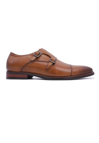 Rad Russel brown Rad Russel Double Monk Strap - Tan FCA57SHBF90946GS_1