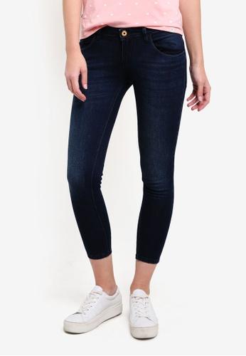 REGATTA blue Medium Wash Curved Cropped Skinny Denim Jeans RE699AA0RUP5MY_1