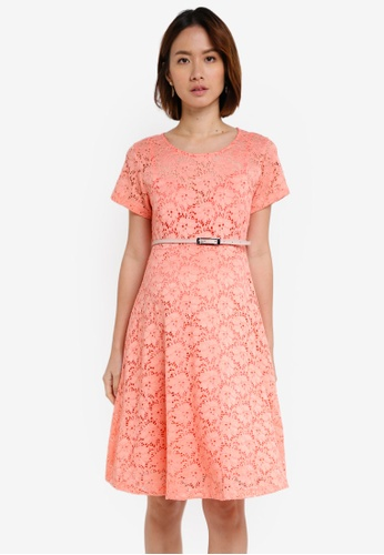 Pietro Brunelli Milano pink Rodano Lace Maternity Dress D4236AA2C21015GS_1