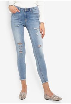 388e7b657f ONLY blue Carmen Ankle Denim Jeans 8DA1DAA507F020GS 1