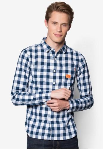 Riveter 格紋長袖襯衫, 服飾,esprit outlet 台灣 服飾