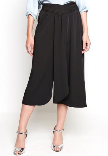 Nichii black Elastic Pleated Culottes A3C13AAE9CBF09GS_1
